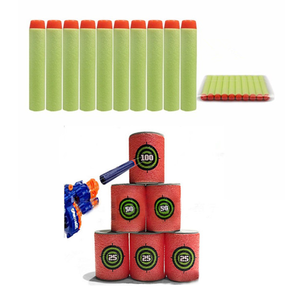 100PCS Light Green Refill Bullets Dart For Nerf N-strike Elite Rampage Retaliator Series