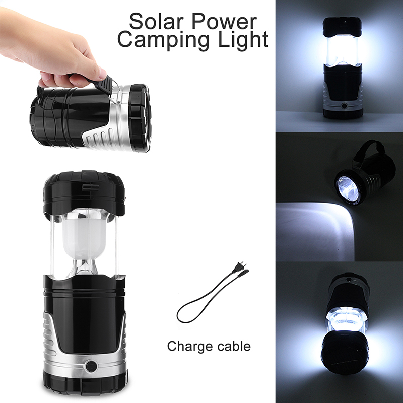 Solar Charging High Power LED Lantern With Charger Portable Outdoor Camping Fishing Emergency Lamp