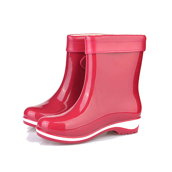 New Women Rain Boots Casual Keep Warm Fashion Flat Comfortable Non-Slip Slip-On Rain Boots
