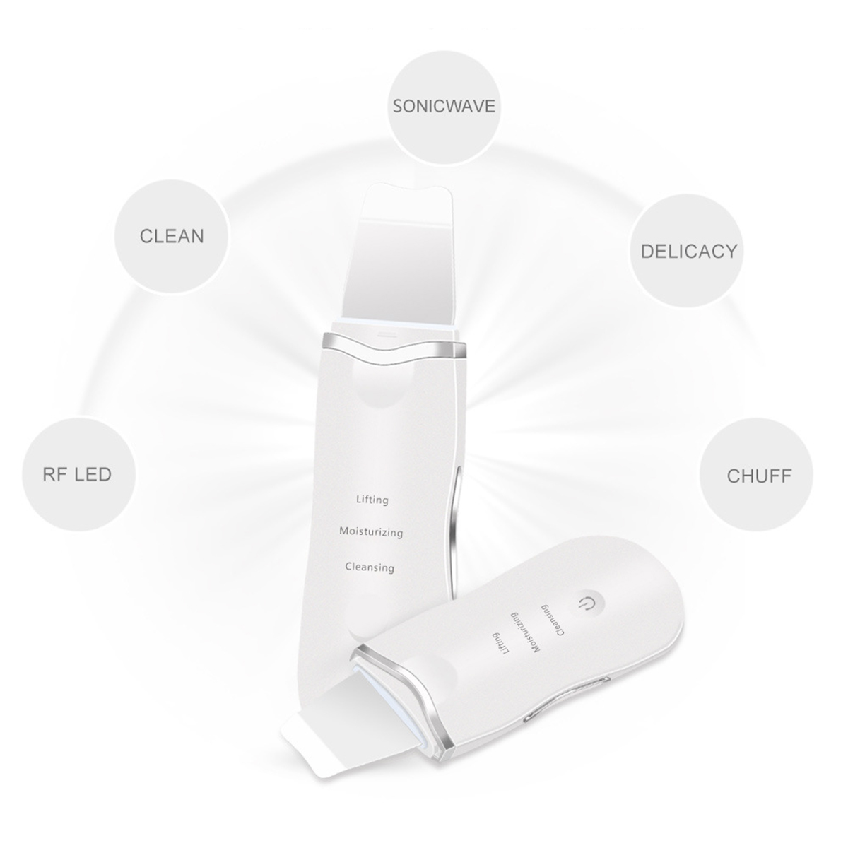 USB Rechargeable Ultrasonic Scrubber Skin Facial Cleaner