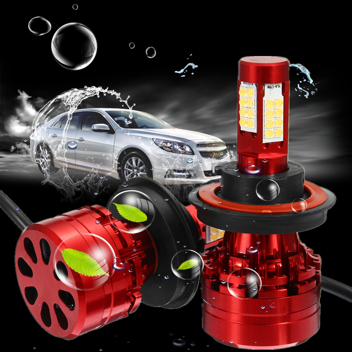 1Pair H13 80W 8000Lm 6000K Car LED Headlight Light Lamp Low Beam Bulbs High Power