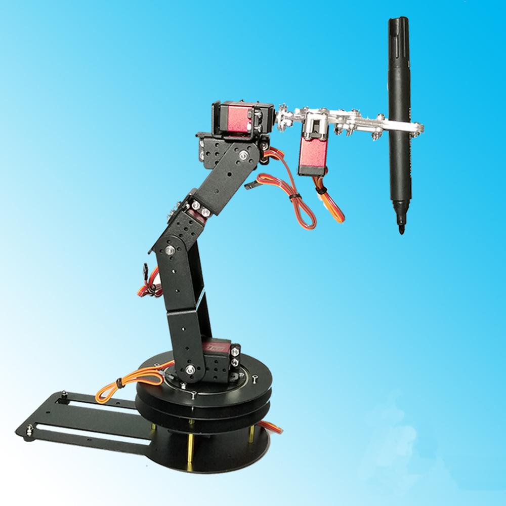 DIY 6DOF Matel RC Robot Arm Educational Kit For Arduino