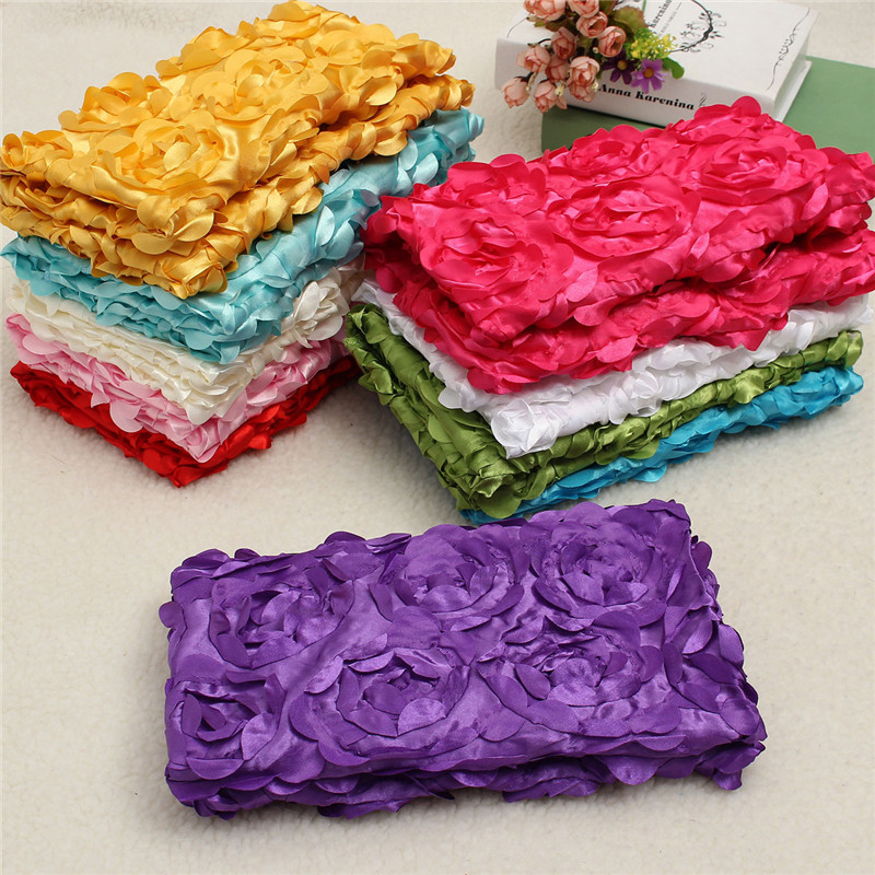 Newborn Baby 3D Rose Flower Rug Blanket Photography Props Photo Backdrop