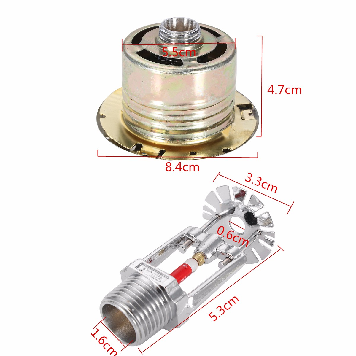 Hidden Type Fire Sprinkler Head with Cover For Fire Extinguishing System Protection