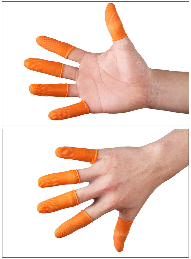 Latex Rubber Finger Cots Protector Protective Gloves Cover Tools Model Tools