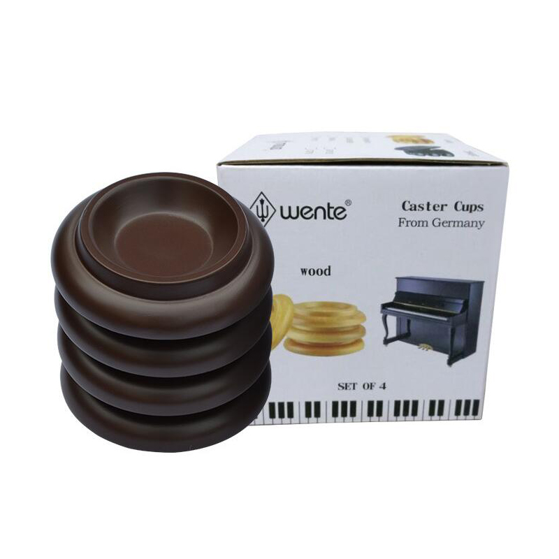 Wente Piano Caster Cups Wood Foot Pads for Upright Piano Parts