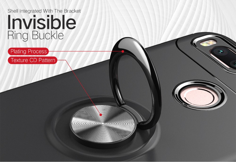 Bakeey 360° Adjustable Metal Ring Kickstand Magnetic PC Protective Case For Xiaomi Mi 5X /Mi A1