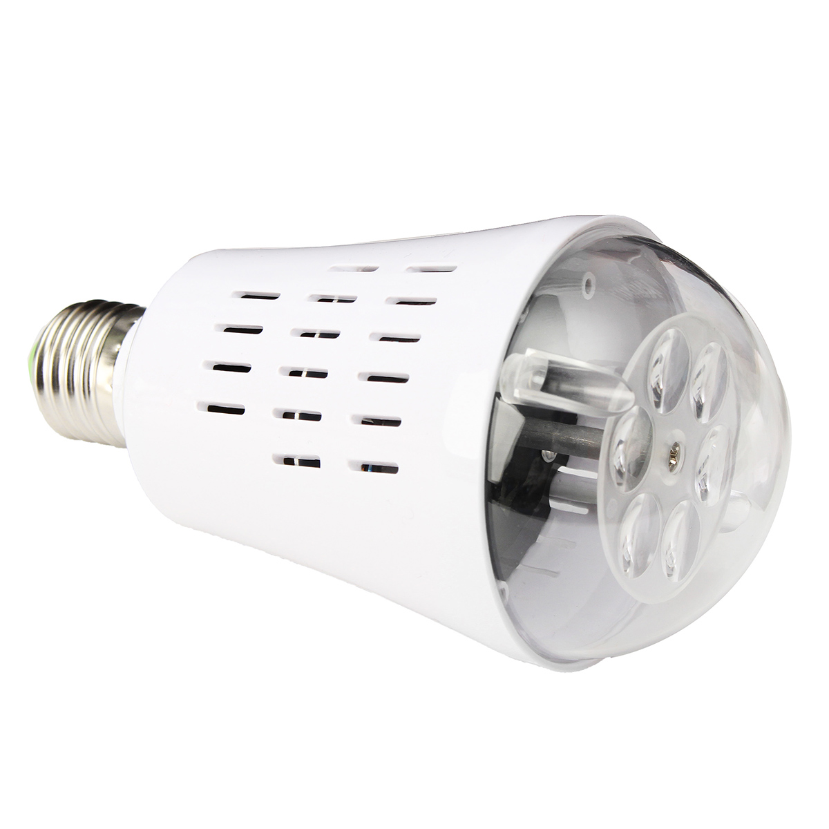 E27 4W Fireworks LED Rotating Projector Stage Lighting Spot Lamp Bulb Down Light