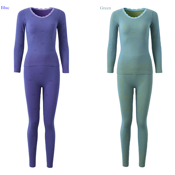 Woman Comfy Soft Breathable Modal Body Shaping Sleepwear Thermal Underwear Suit