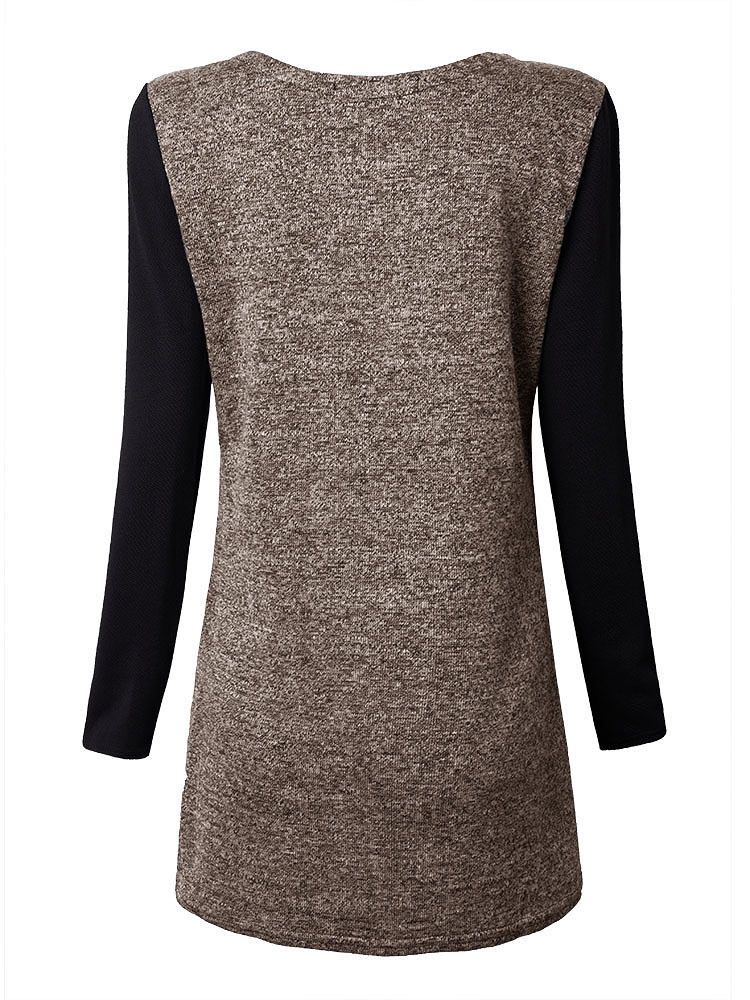 Women Plus Size Thicken Long Sleeve Slim Winter Dress