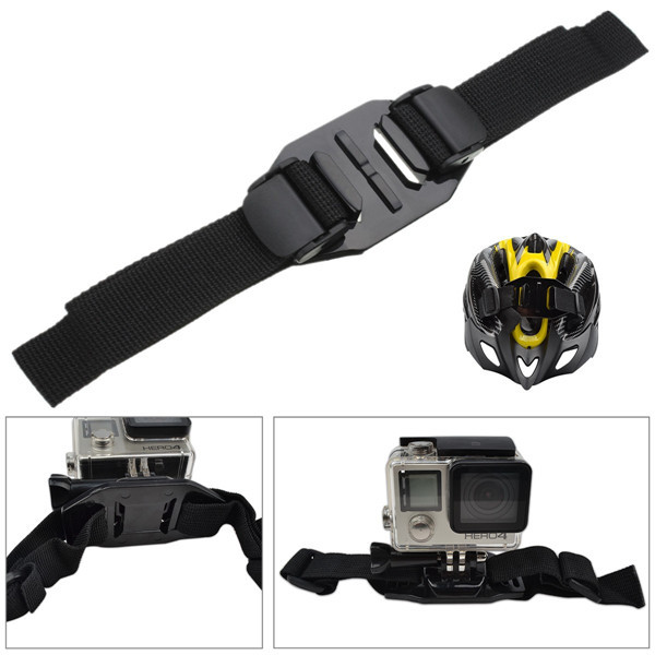 Vented Adjustable Helmet Strap Mount For Sports Camera Gopro HD Hero 4 Session 2 3 Plus