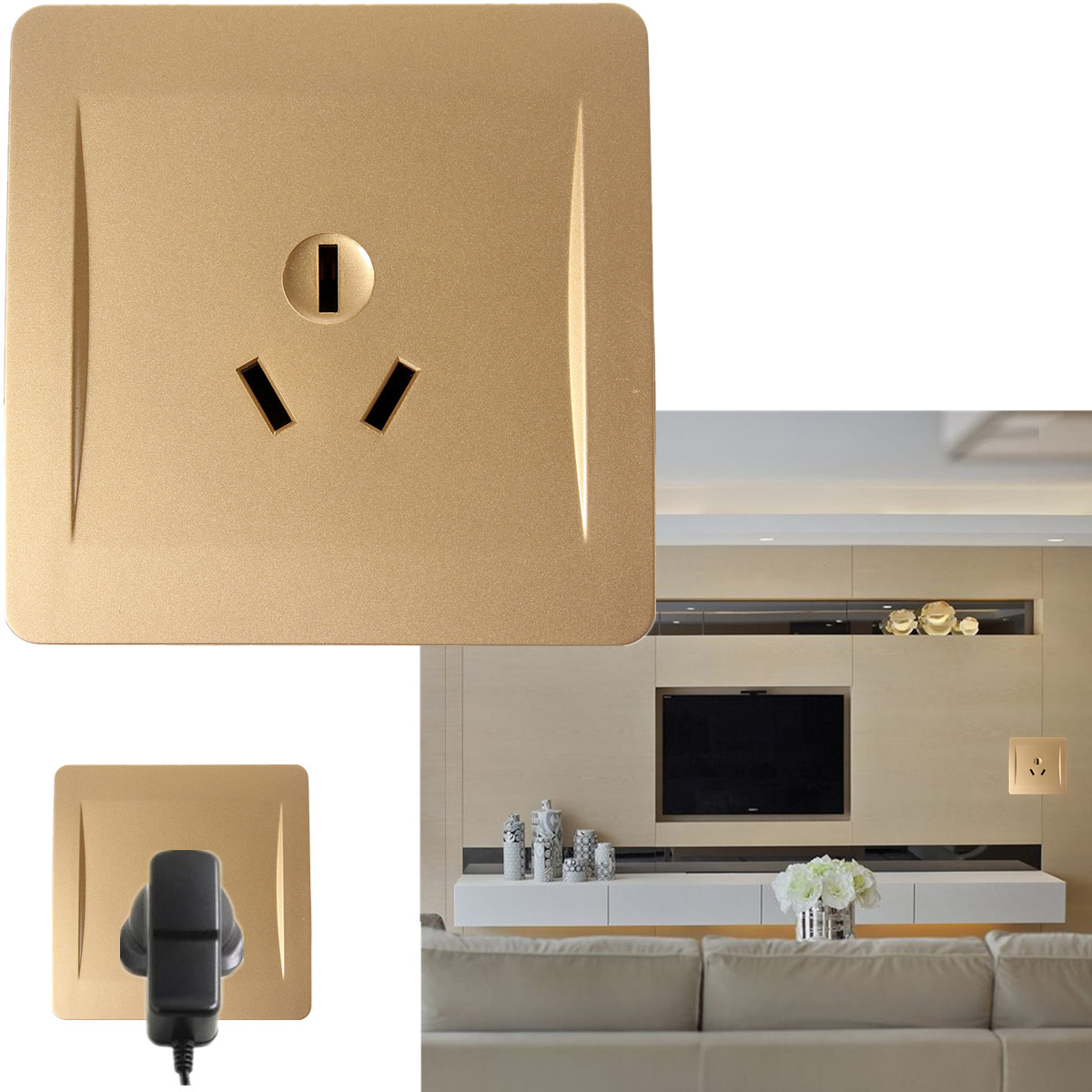 AC110-250V Electric Wall Charger Switch Socket Adapter Power Outlet Panel Faceplate AU Plug