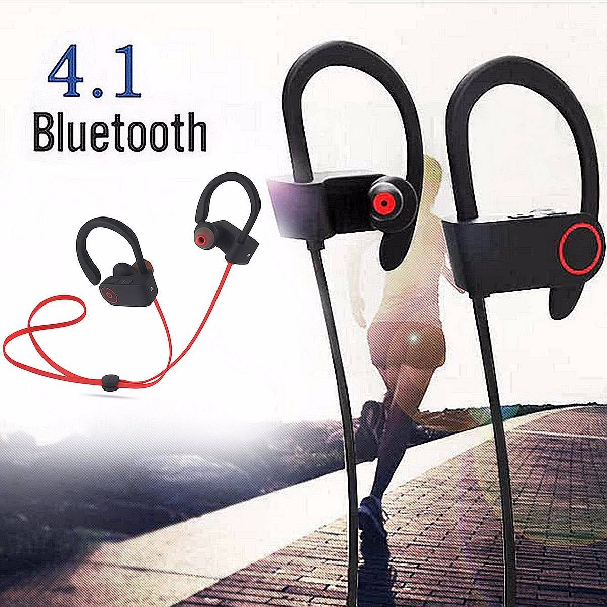 U8 Wireless bluetooth V4.1 Sports Stereo Earphone Headphone Headset Earbud