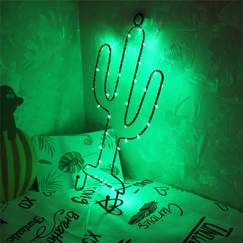 Led Cactus Light Christmas Decorations Fairy Battery Operated Led String Lights For Christmas Wedding Festoon Party Decorative Christmas 3D LED Lights