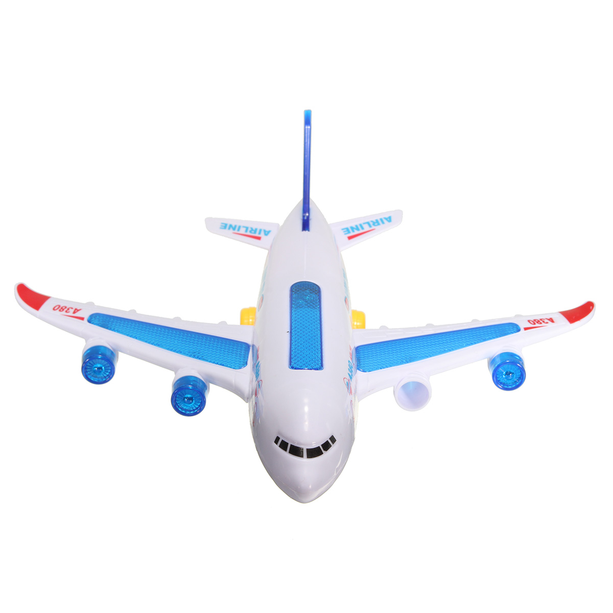 Electric Airbus Airplane plane Shuttle Moving Musical Flashing Sound Model Toy