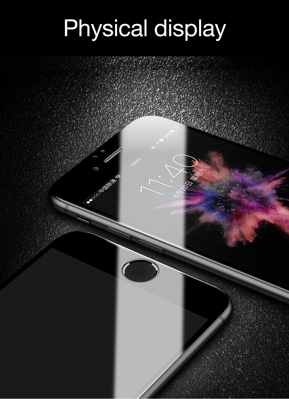 Bakeey 4D Curved Edge Tempered Glass Screen Protector For iPhone 8 Plus