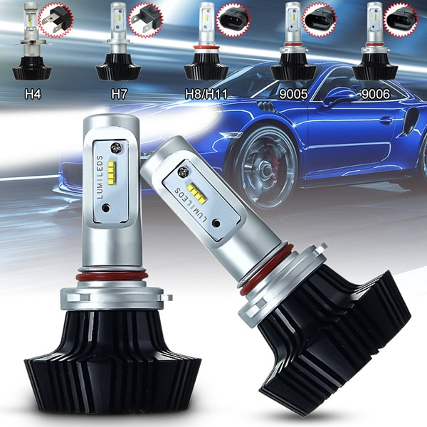 Pair 80W 8000LM H7 H8/H11 9005 9006 Car LED Headlight Bulb Front Lamp