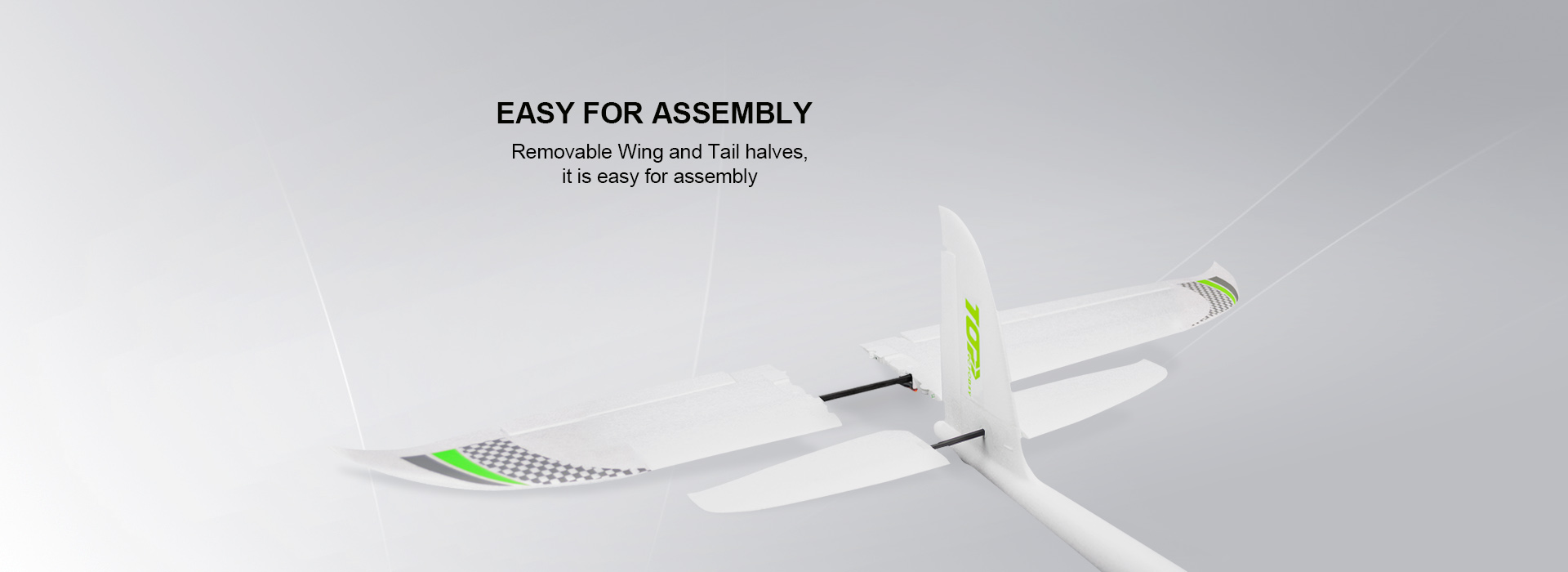 TOP RC 1200MM Swift 1200mm Wingspan EPO RC Airplane Glider Racer PNP With EDF Power System - Photo: 6