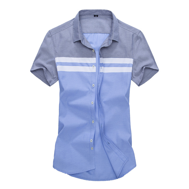 Mens Striped Prinring Summer Short Sleeve Designer Shirts