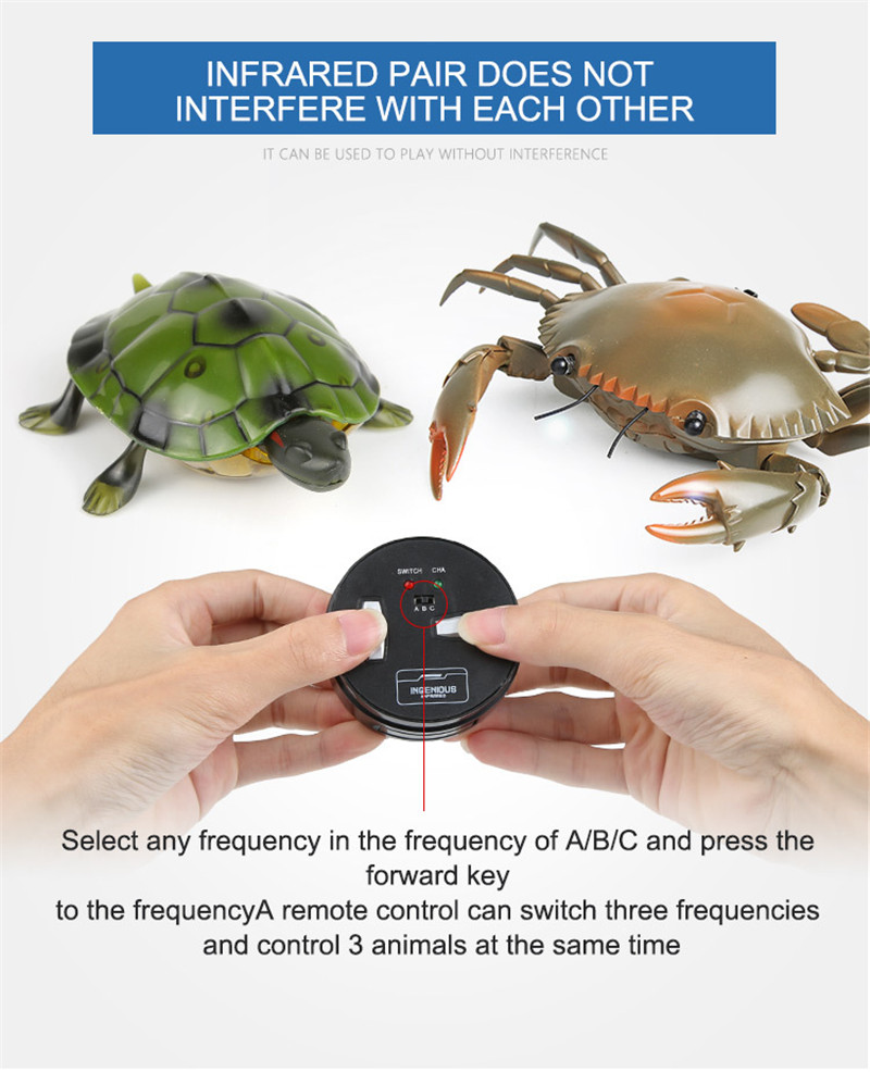 RC Red Scorpion Green Turtle Black Spider Remote Control Mock Fake Animal Christmas Trick Toys