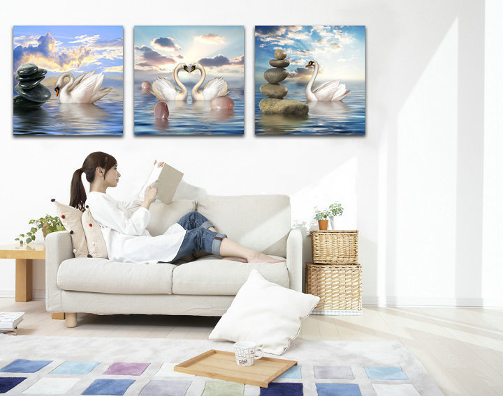 40x40cm 5D DIY Swans Lover Diamond Painting Resin Full Rhinestone Animal Home Decoration Cross Stitch Kit