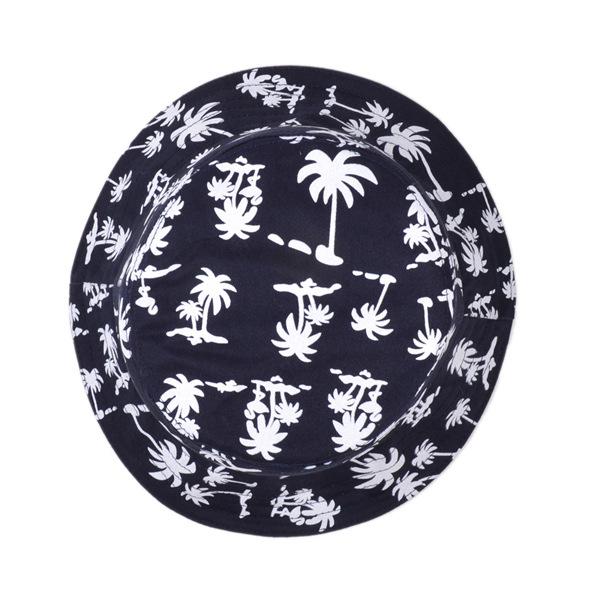 Women Cotton Blend Printing Bucket Hat Outdoor Sport Fisherman Cap