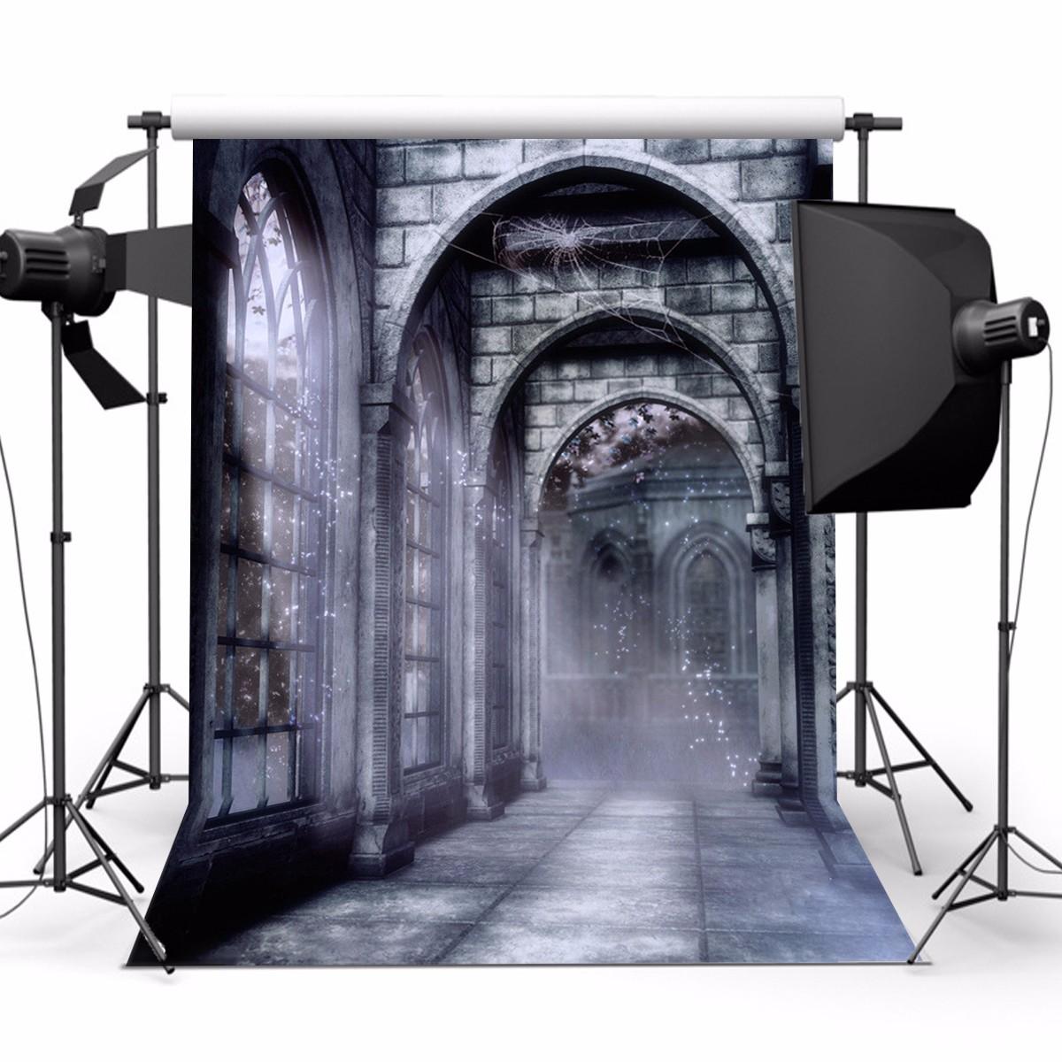 5x7ft Vinyl Retro Old Castle Backdrop Studio Photography Photo Background Props