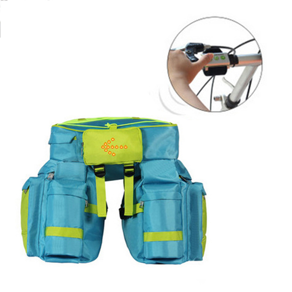 PLAY-KING Leisure Outdooors Riding Bag 66L Wireless Remote Control Lamp Riding Package Tail Bag