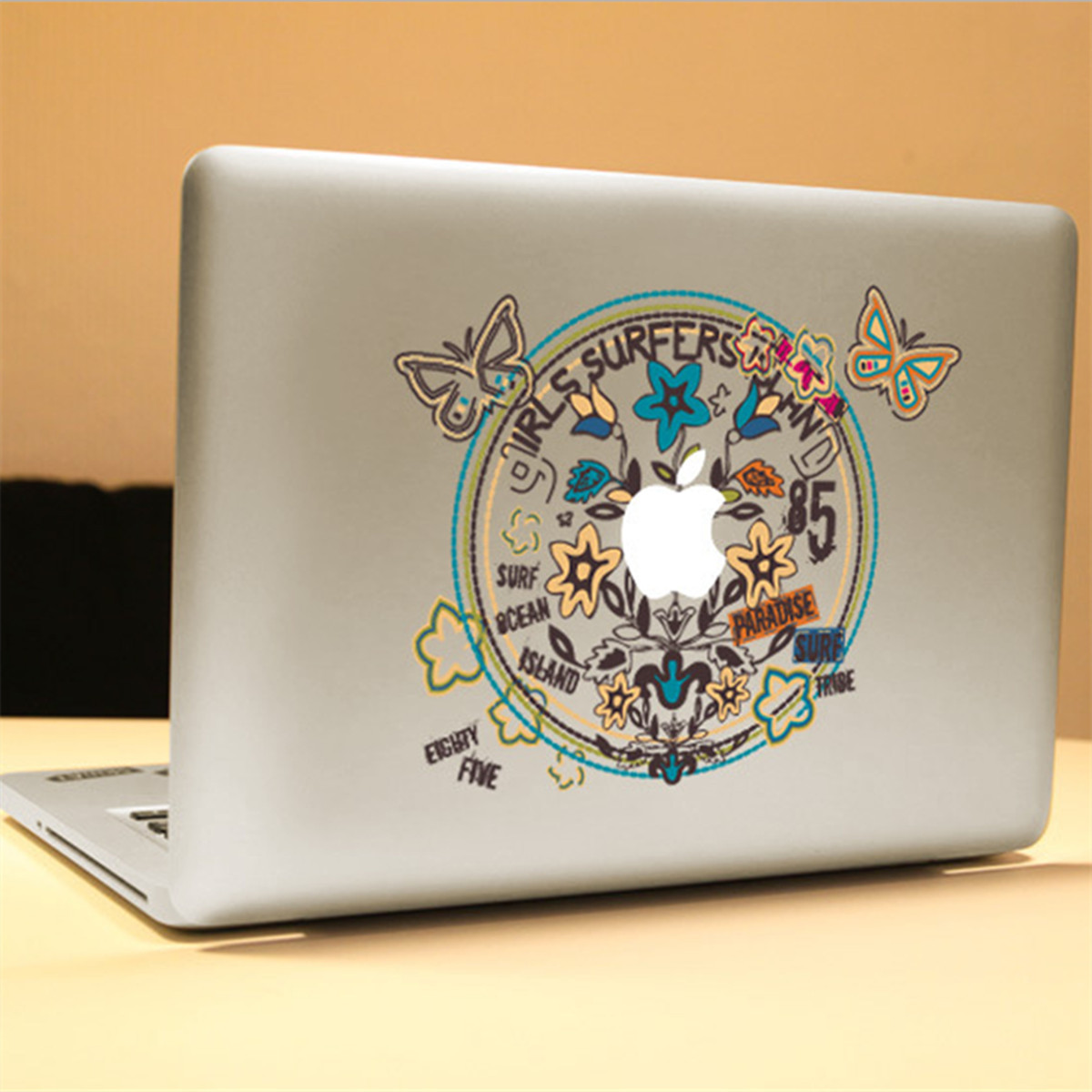 Butterfly Wreath Decal Vinyl Sticker Skin Shell Decoration Laptop Sticker Decal For Apple MacBook
