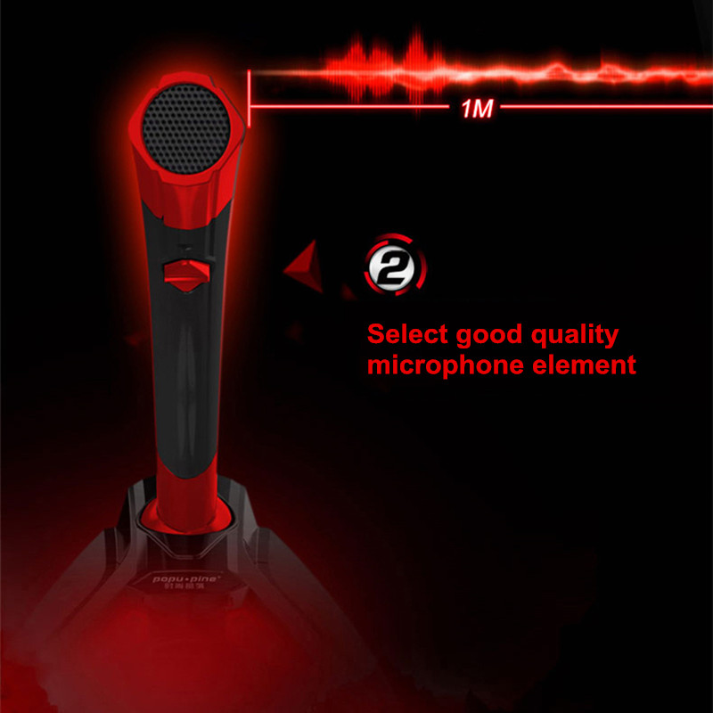 3.5mm USB Port Desktop Computer Microphone Chatting Play Games Microphone with Phone Holder