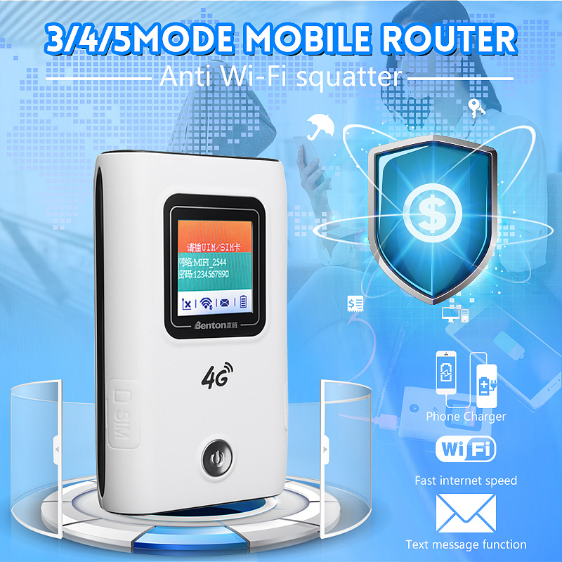 4G Wireless Mobile Router Portable WIfi Modem 150Mbps SMS Notification Support 10 Devices