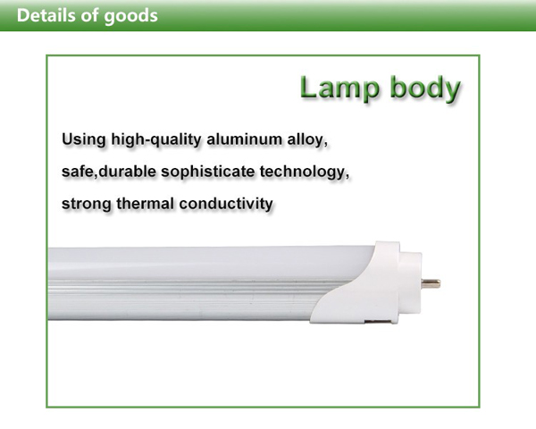 T8 600MM 9W AC 180-265V LED Rigid Strip Tube Light 48 SMD 2835 White/Warm White Fluorescent Bulb