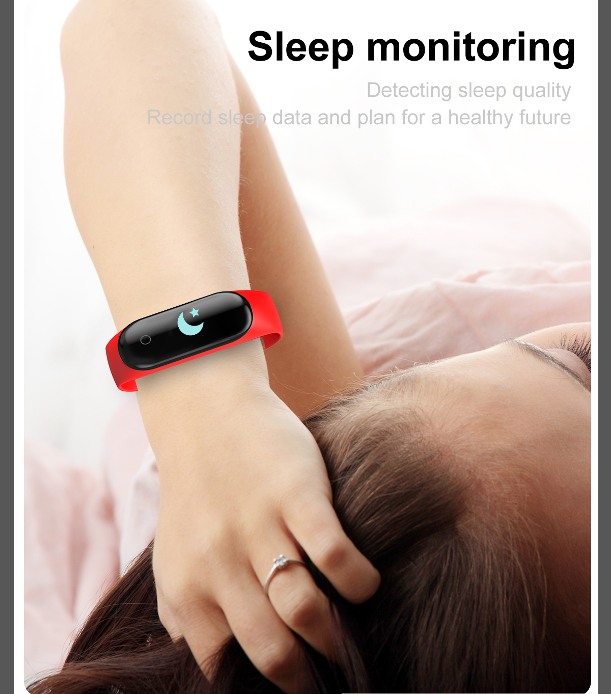 Bakeey M4 Max IPS Color Screen Wristband IP67 Blood Pressure O2 Long Standby Fitness Smart Watch
