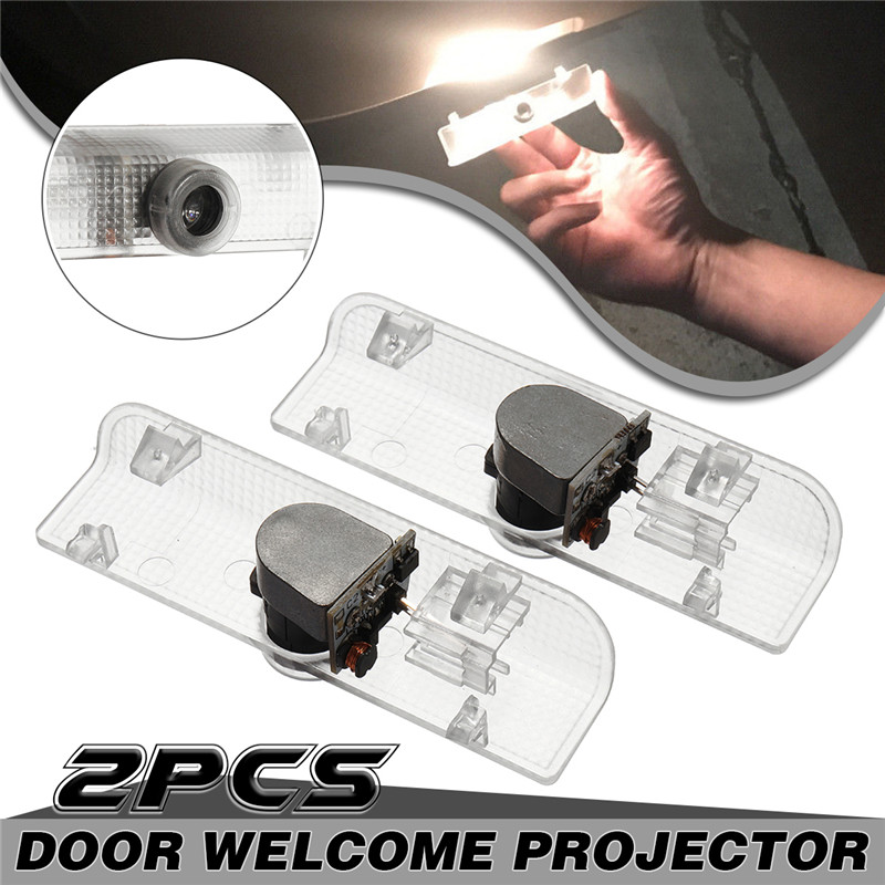 Pair LED Car Door Ghost Shadow Lights Logo Welcome Lamp Projector Courtesy 6500K White for Nissan