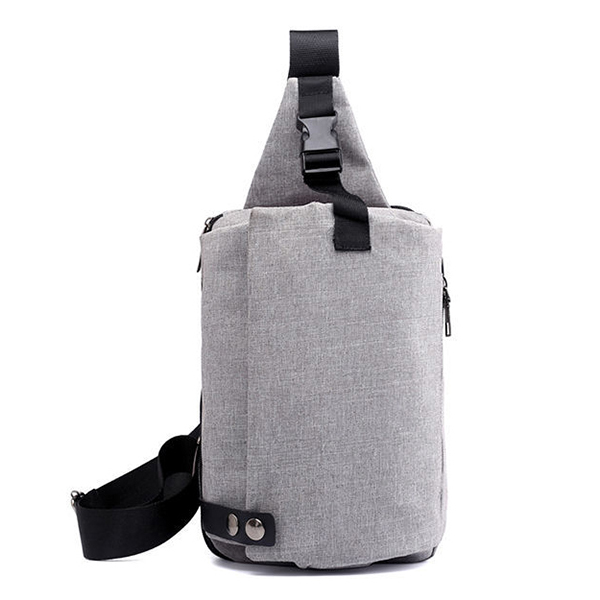 Men Oxford Chest Bag Minimalist Fashion Casual Headset String Port Outdoor Sling Bag Crossbody Bag