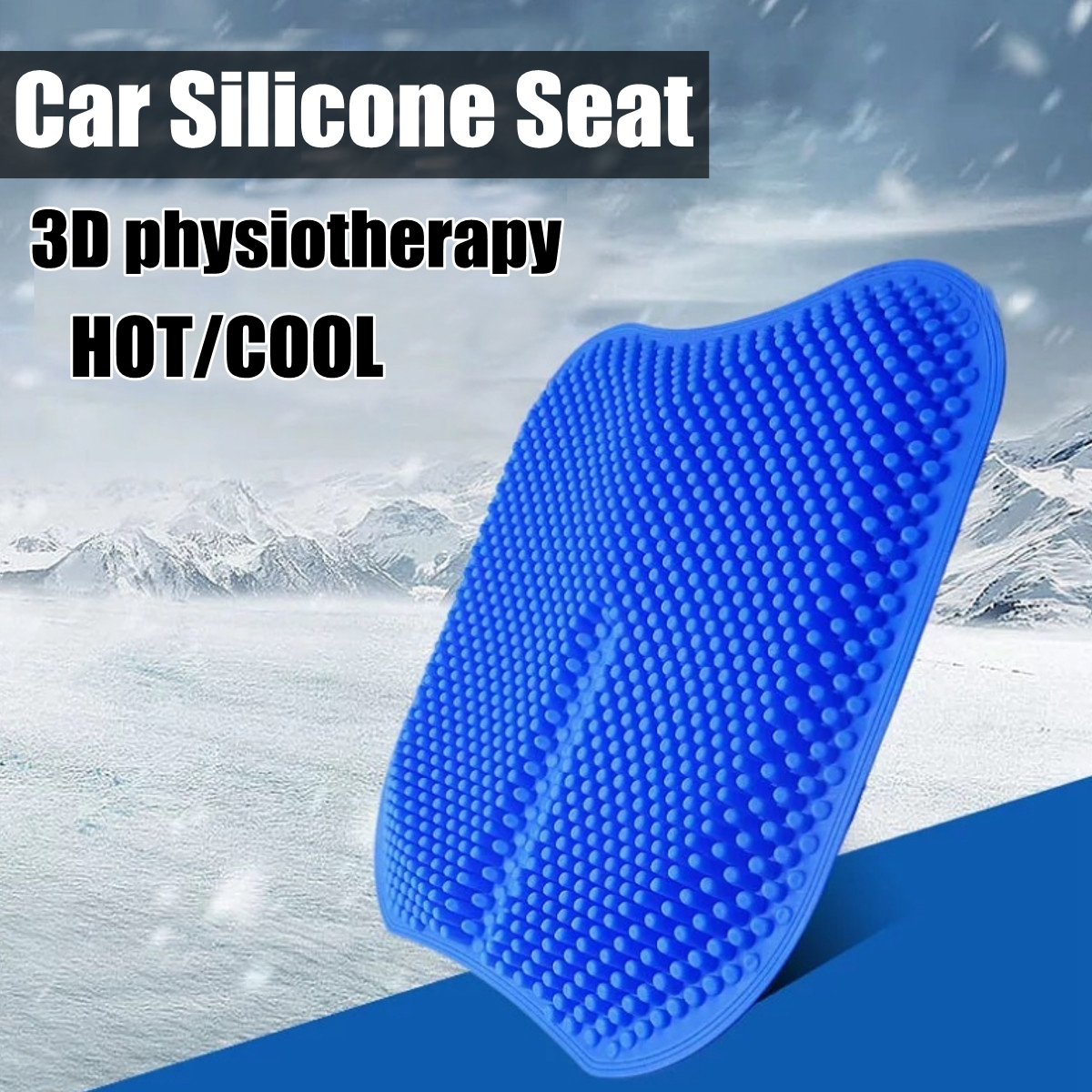 3D Massage Car Seat Cushion Silicone Massage Chair Pad Mat Seat Cover