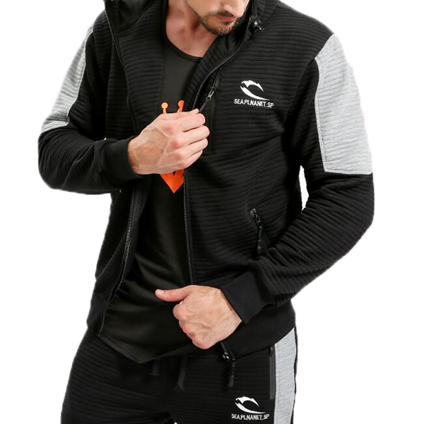 Men's Fitness Jogging Zip Up Sports Tops