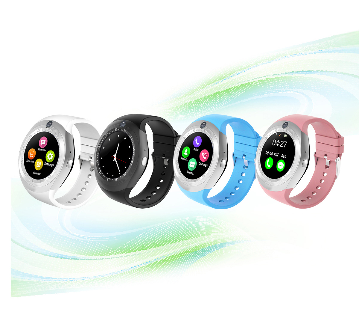 Y1S 1.54inch MTK6261D Camera GSM Sleep Monitor Pedometer Bluetooth Smart Watch For Android IOS