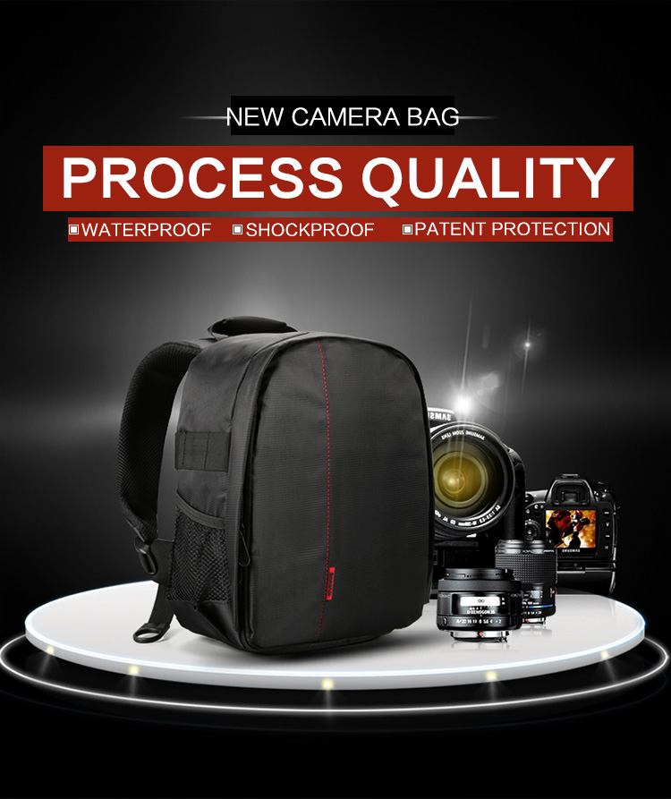 HUWANG 7460 Waterproof Multi-functional DSLR Video Photo Digital Camera Bag Padded Backpack