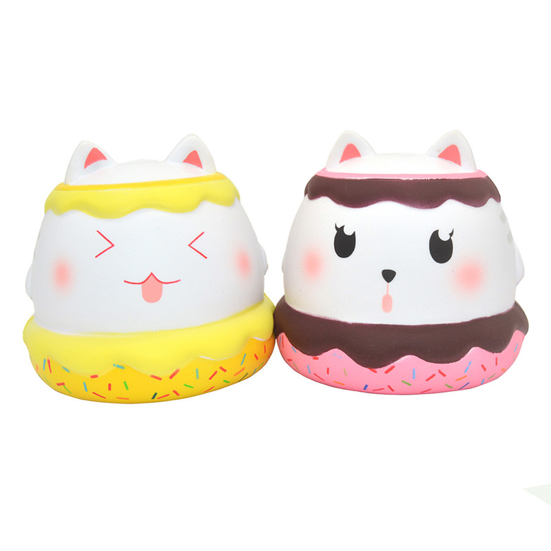 Kiibru Meow Puff Squishy Cat Kitten 11cm Licensed Slow Rising With Packaging Collection Gift Soft Toy