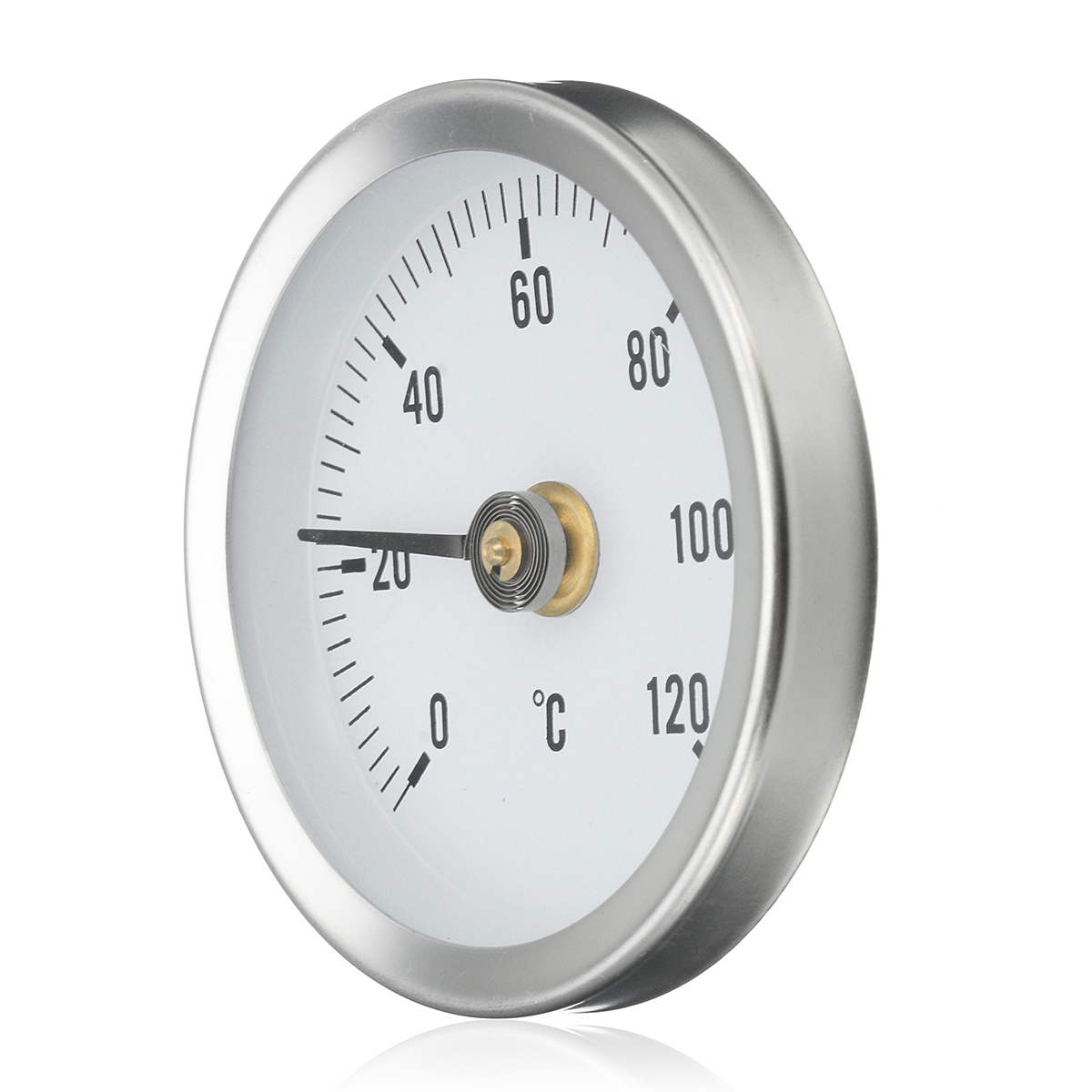 63mm 0-120º C Clip Dial Thermometer Temperature Temp Gauge With Spring