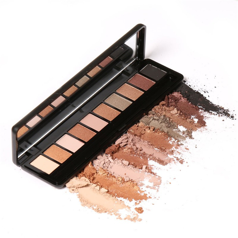 FOCALLURE 10 Colors Eye Shadow Makeup Shimmer Matte Earth Color Eyeshadow Palette