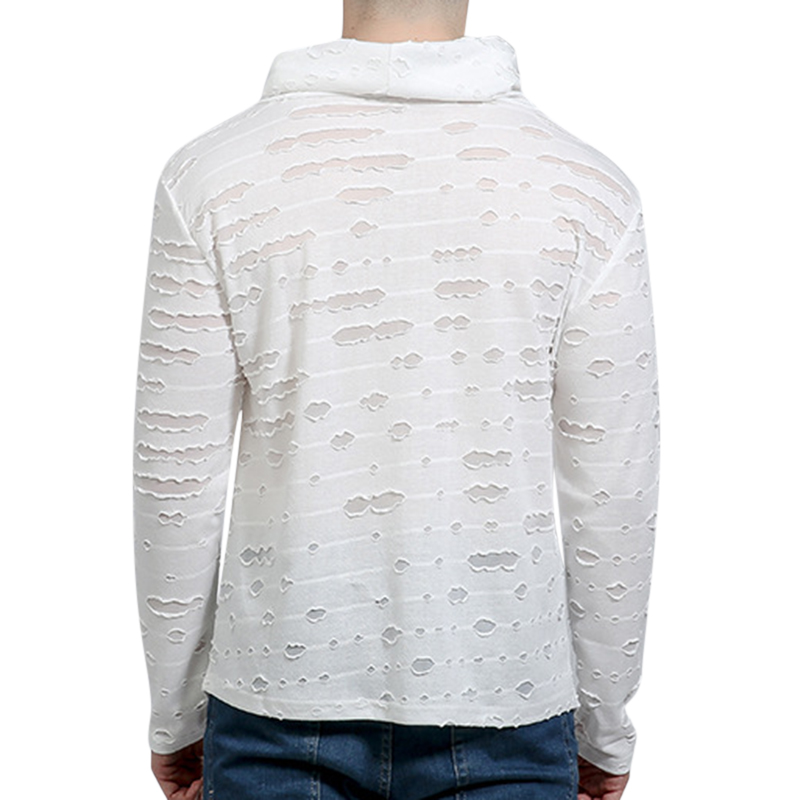 Hip Pop Cotton Loose Long Sleeve Casual T-shirts for Men