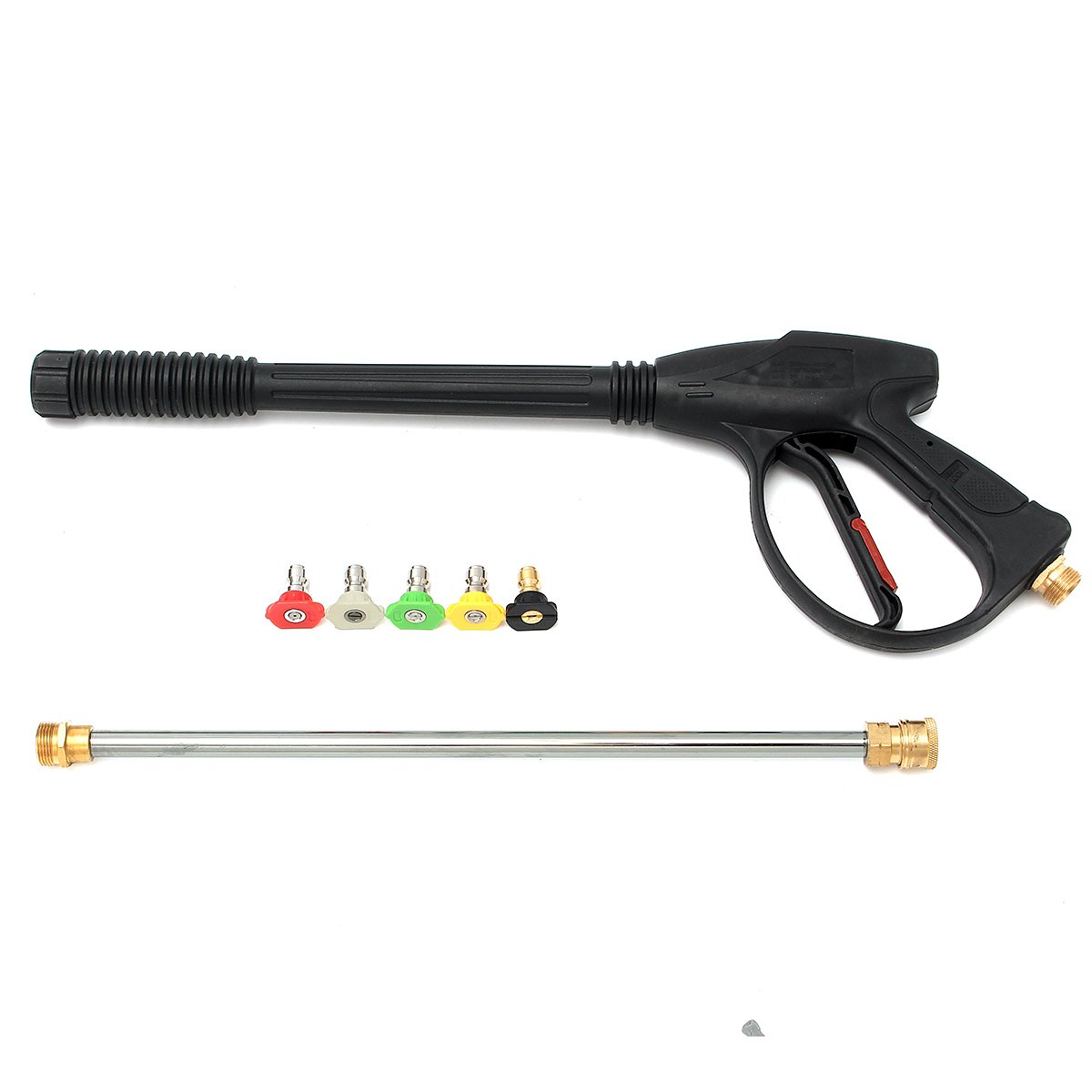 High Pressure Power Washer Spray Gun Wand Lance with Nozzle Kit