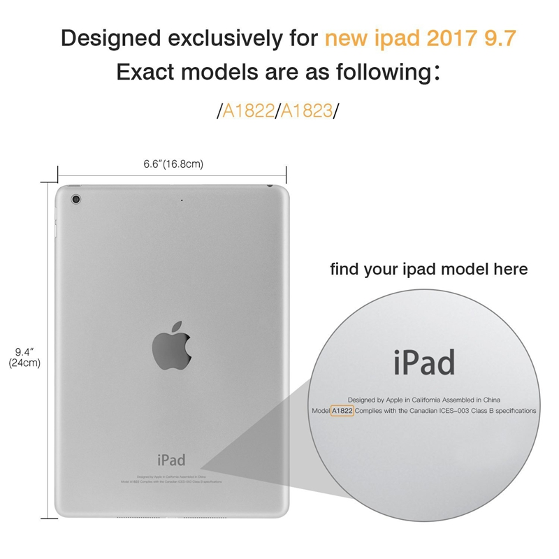 Clear Crystal Transparent Soft TPU Tablet Case For New iPad 9.7 Inch 2017/ iPad 9.7 Inch 2018