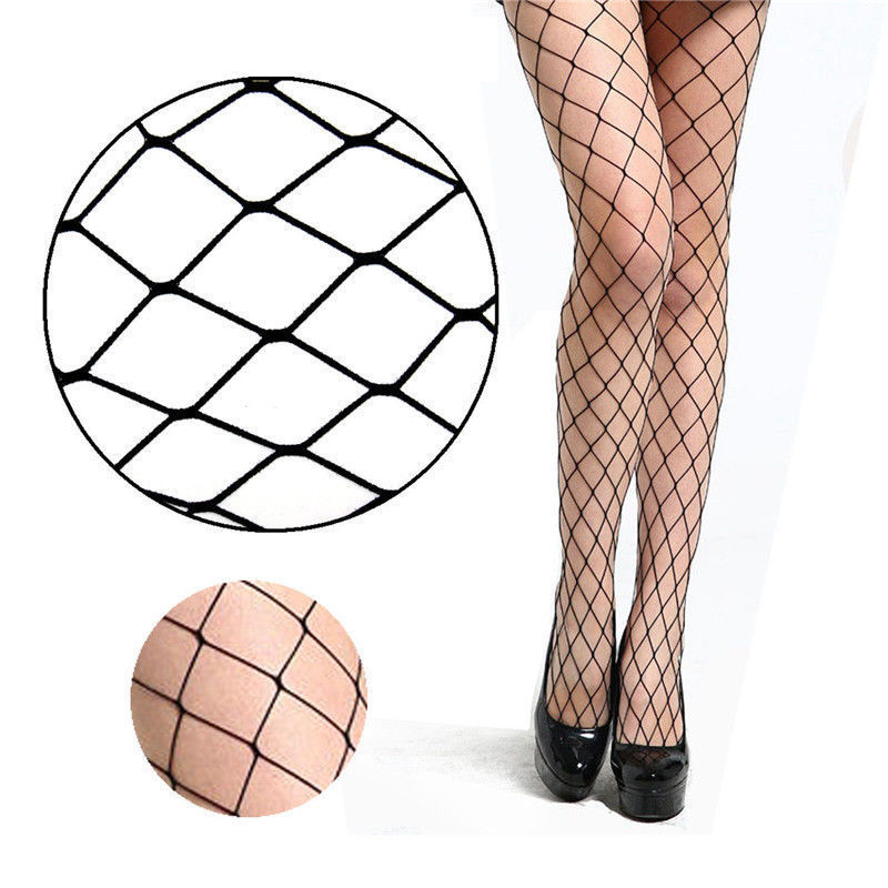 Women Sexy Anti-hook Fish Net Tights Mesh Black Stockings Hollow Out Pantyhose Hosiery