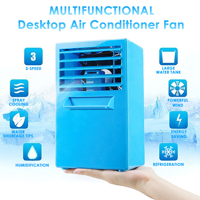 24V Portable Mini Conditioner Fan USB Air Cooler Camping Travel Summer Cooling Machine