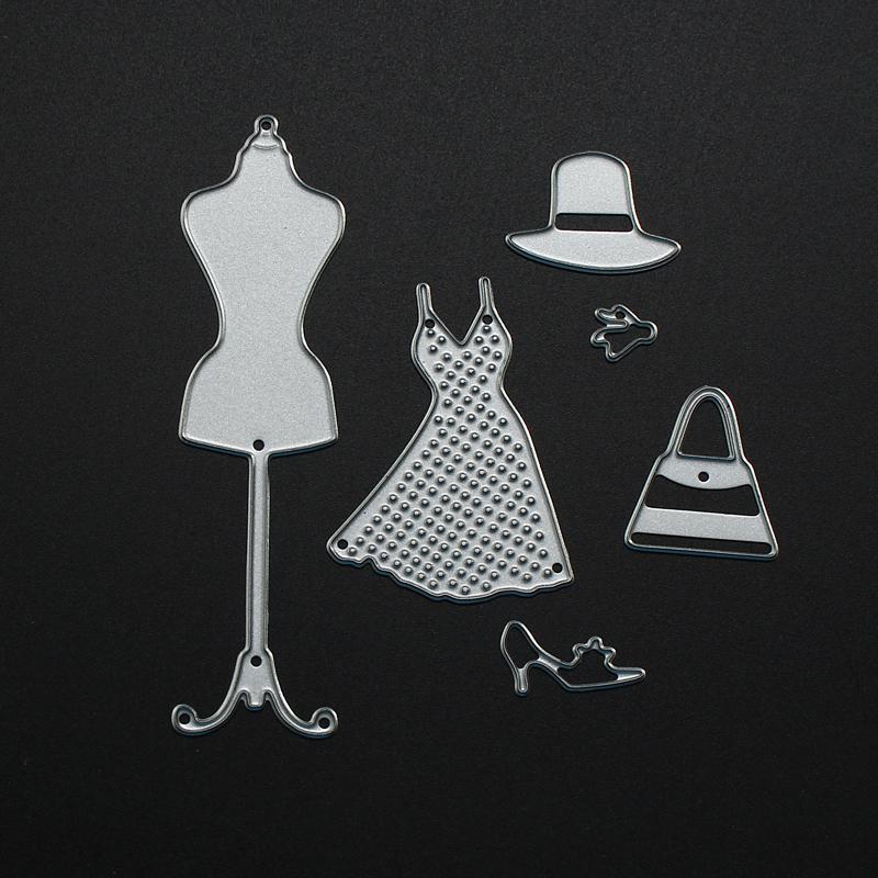 Checkroom Theme Clothes Tree Set Scrapbooking DIY Album Card Paper Craft Maker Metal Cutting Dies