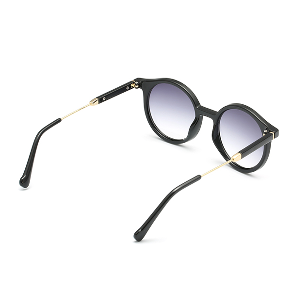 Women Girl Round Full Frame Sun Glassess PC Lens Uv Protection Transparent Vintage Glasses