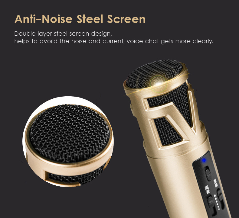 Omnidirectional Studio Condenser Microphone for iOS Android Phones